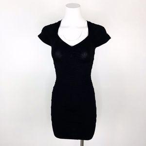 Bebe   Black Bandage Mini Dress Bodycon